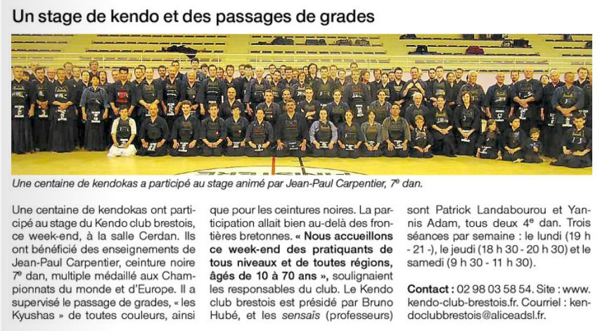 article Ouest France 09-06-2014